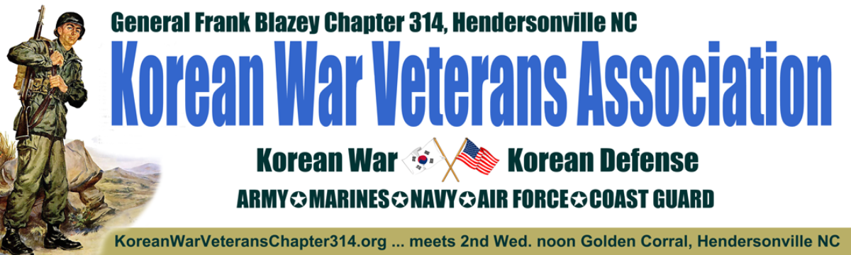 Korean War Veterans Association, Gen. Frank Blazey Chapter 314